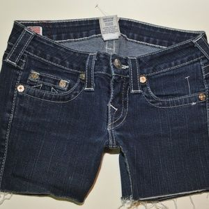 true religion cut off shorts size 26 stretch